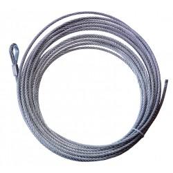 Ocelové lano ATV 15m 4mm