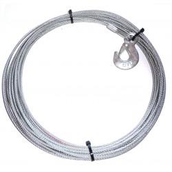 Ocelové lano ATV 15m 4,5mm s  hákem