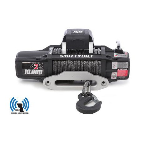 Winch SMITTYBILT X20 10000 GEN2 LBS Synthetic Rope Wireless Remote