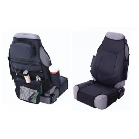 Front Seat Covers Black Smittybilt VEST UNIVERSAL