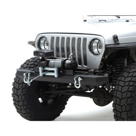 Front Bumper Classic Rock Crawler d-ring mounts - Jeep Wrangler YJ