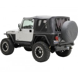 Soft Top Black Smittybilt - Jeep Wrangler JK 2 door 07-09