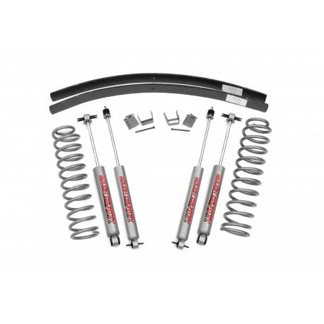 "3"" Rough Country Lift Kit Suspension - Jeep Cherokee XJ"