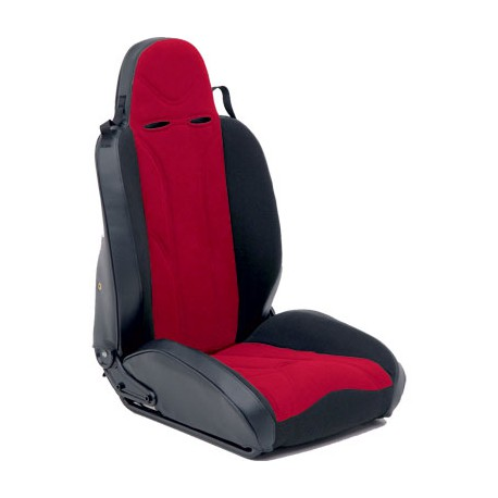 Front Driver Seat XRC Racing Style Red-Black Smittybilt - Jeep Wrangler JK