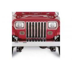 Chrome Grille Inserts Smittybilt - Jeep Wrangler YJ