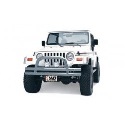 Front Tubular Bumper Stainless Steel with Hoop Smittybilt - Jeep Wrangler YJ