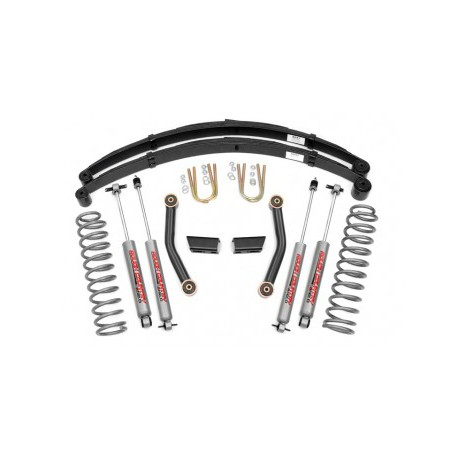 "3"" Rough Country Lift Kit Pro II Suspension - Jeep Cherokee XJ"
