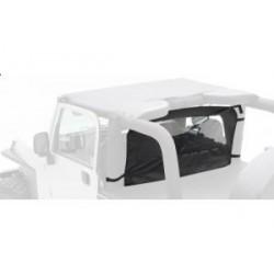 Outback Wind Breaker with Window black Smittybilt - Jeep Wrangler YJ