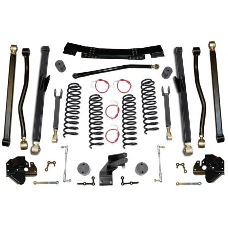 "4,5"" CLAYTON OFF ROAD Long Arm Lift Kit suspension - Jeep Wrangler JK 4 door"