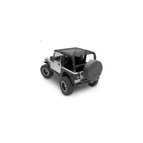 Outback Extended Bikini Top black Smittybilt - Jeep Wrangler TJ