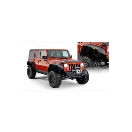 Fender Flares Bushwacker Flat Style - Jeep Wrangler JK 4 door