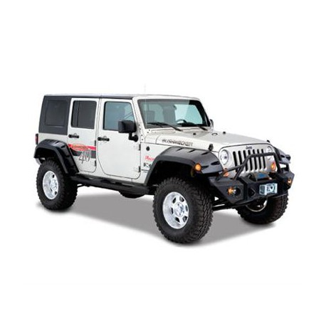 Bushwacker Front Fender Flares Pocket Style - Jeep Wrangler JK 4 door