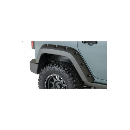 Factory Coverage Rear Fender Flares BUSHWACKER - Jeep Wrangler JK 2 door
