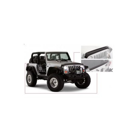 Hood and Tailgate Protector Set BUSHWACKER - Jeep Wrangler JK