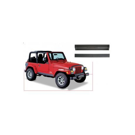 Front and Rear Guards BUSHWACKER - Jeep Wrangler TJ