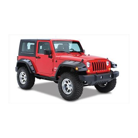 Bushwacker Rear Fender Flares Pocket Style - Jeep Wrangler JK 2 door