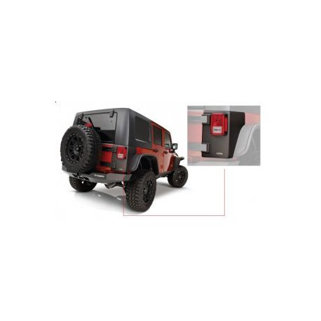 Trail Armor Rear Corner BUSHWACKER - Jeep Wrangler JK 4 door