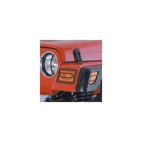 Euro Turn Signal/Side Marker Covers Black Smittybilt - Jeep Wrangler TJ
