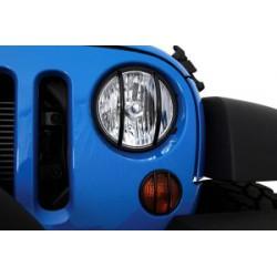 Euro Headlight Guard black Smittybilt - Jeep Wrangler JK