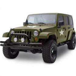 Front Tubular Bumper SMITTYBILT black gloss - Jeep Wrangler JK