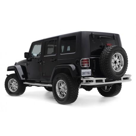 Rear Steel Bumper SMITTYBILT stainless steel - Jeep Wrangler JK