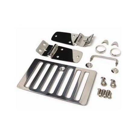 Hood Kit Stainless Steel SMITTYBILT - Jeep Wrangler TJ