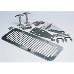 Complete Hood Kit Steel Smittybilt - Jeep Wrangler YJ