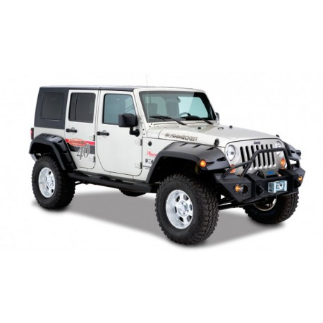 Bushwacker Rear Fender Flares Pocket Style - Jeep Wrangler JK 4 door