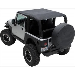 Soft Top Brief Top Waterproof SMITTYBILT - Jeep Wrangler JK  07-09 2 door
