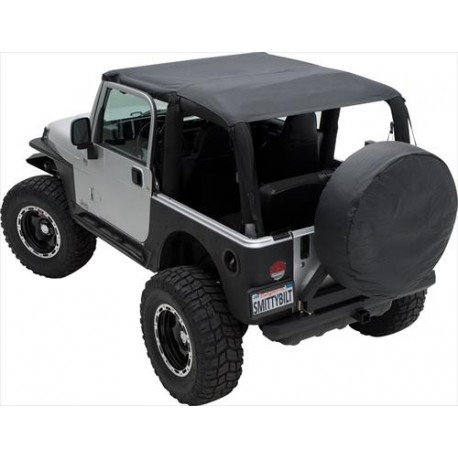 Soft Top Brief Top Waterproof SMITTYBILT - Jeep Wrangler JK  07-09 2 door