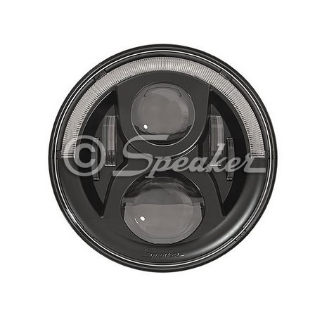 Headlight LED JW Speaker 8700 Evoulution 2 BLACK - Jeep Wrangler JK
