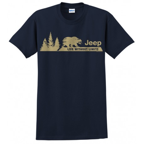 Men's T-shirt Jeep LIVE WITHOUT LIMITS (XL size)