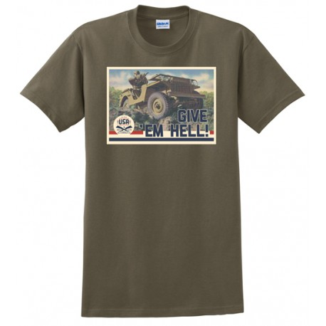 Men's T-shirt Jeep Give 'Em Hell (L size)