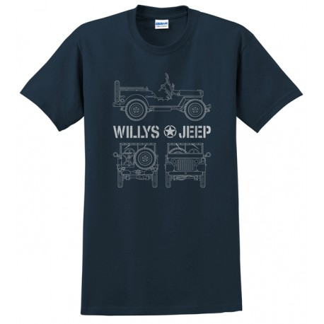 Men's T-shirt Jeep Willys (L size)