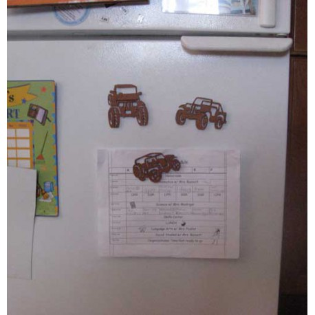 Jeep Magnets on Refrigerator