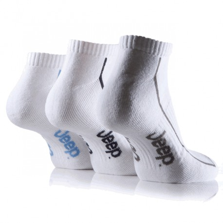 Men's Sport Socks Jeep short white (3 pairs)