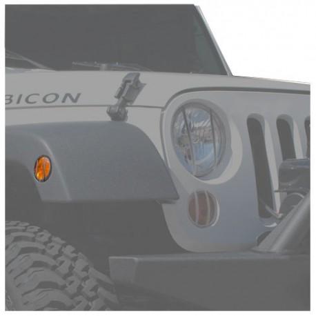 Euroguard Side Marker Black Smittybilt - Jeep Wrangler JK