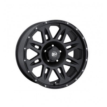 "Alloy Wheel 9x17"" 5x127 ET -6 - ProComp Model 7005 Flat Black - Jeep Grand Cherokee WJ WG"