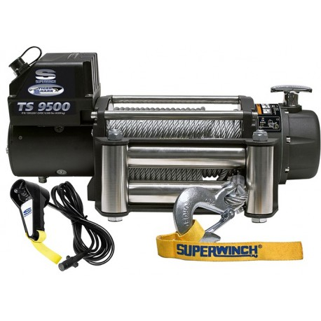 Superwinch TigerShark 9500 electric winch (steel rope & stainless steel roller fairlead)