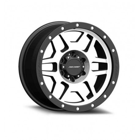 "Alloy Wheel 9x17"" 5x127 ET -6 - ProComp Model 3541 Satin Silver & Black - Jeep Grand Cherokee WJ"