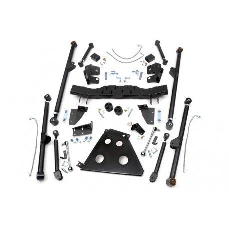 "4 - 6"" Long Arm Rough Country Upgrade Lift Kit - Jeep Wrangler JK"