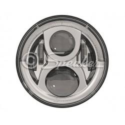 Headlight LED JW Speaker 8700 Evoulution 2 CHROME - Jeep Wrangler JK