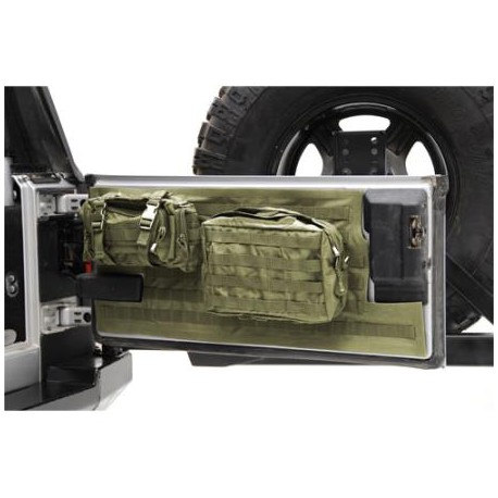 Tailgate Cover Smittybilt G.E.A.R. olive - Jeep Wrangler JK