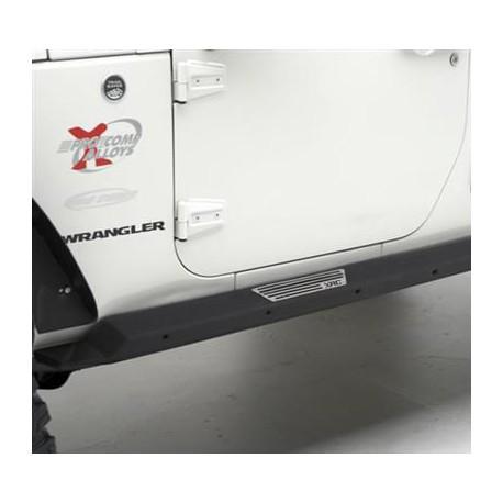 Side Armor with step Smittybilt XRC Rock Guards - Jeep Wrangler JK 2 door