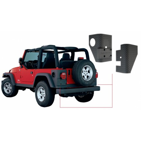 Trail Armor Rear Corner BUSHWACKER - Jeep Wrangler TJ