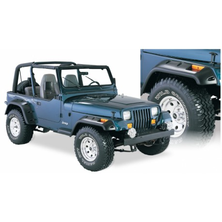 Bushwacker Fender Flares Cut-Out - Jeep Wrangler YJ