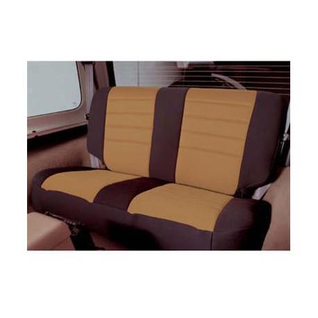 Rear Seat Cover Neoprene Light Tan Smittybilt - Jeep Wrangler YJ
