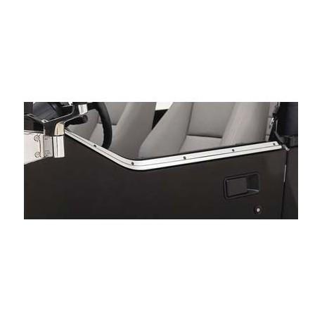 Stainless Steel Door Channel Kit Smittybilt - Jeep Wrangler YJ