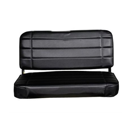 Standard Rear Seat Black Denim Smittybilt - Jeep Wrangler YJ