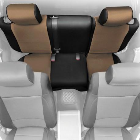 Rear Seat Cover Neoprene Light Tan Smittybilt - Jeep Wrangler JK 4D - Jeep Wrangler JK 4D 08-12